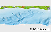 """Physical Panoramic Map of the area around 34°28'56""""N,137°46'30""""E"""