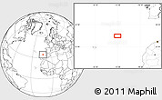 """Blank Location Map of the area around 34°28'56""""N,13°31'30""""W"""