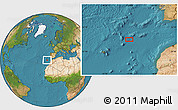 """Satellite Location Map of the area around 34°28'56""""N,13°31'30""""W"""