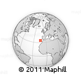 """Outline Map of the Area around 34° 28' 56"""" N, 13° 31' 30"""" W, rectangular outline"""