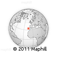 """Outline Map of the Area around 34° 28' 56"""" N, 14° 22' 30"""" W, rectangular outline"""