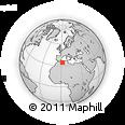 Outline Map of Oum El Guetouta, rectangular outline