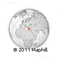 """Outline Map of the Area around 34° 28' 56"""" N, 27° 16' 29"""" E, rectangular outline"""