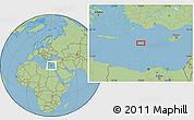 "Savanna Style Location Map of the area around 34°28'56""N,28°58'30""E"