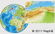 Physical Location Map of El Idrissia