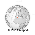 """Outline Map of the Area around 34° 28' 56"""" N, 2° 37' 30"""" E, rectangular outline"""