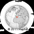 Outline Map of El Idrissia, rectangular outline