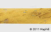 """Physical Panoramic Map of the area around 34°28'56""""N,2°37'30""""E"""