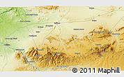 """Physical 3D Map of the area around 34°28'56""""N,2°28'30""""W"""