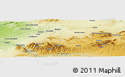 """Physical Panoramic Map of the area around 34°28'56""""N,2°28'30""""W"""