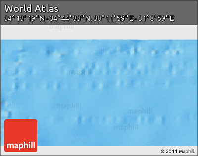 """Shaded Relief 3D Map of the Area around 34°28'56""""N,30°40'29""""E"""