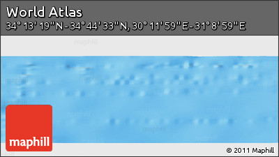 """Shaded Relief Panoramic Map of the Area around 34°28'56""""N,30°40'29""""E"""