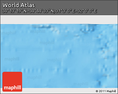 """Shaded Relief 3D Map of the Area around 34°28'56""""N,31°31'29""""E"""
