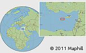 "Savanna Style Location Map of the area around 34°28'56""N,31°31'29""E"