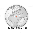 """Outline Map of the Area around 34° 28' 56"""" N, 31° 31' 29"""" E, rectangular outline"""