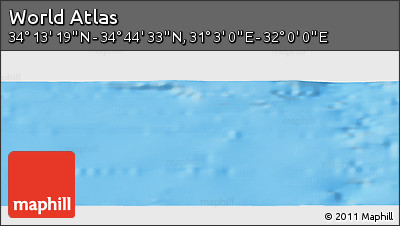 """Shaded Relief Panoramic Map of the Area around 34°28'56""""N,31°31'29""""E"""