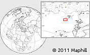 """Blank Location Map of the area around 34°28'56""""N,32°22'30""""E"""