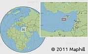 "Savanna Style Location Map of the area around 34°28'56""N,32°22'30""E"