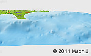 "Physical Panoramic Map of the area around 34° 28' 56"" N, 33° 13' 30"" E"