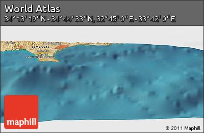 "Satellite Panoramic Map of the Area around 34°28'56""N,33°13'30""E"