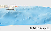"Shaded Relief Panoramic Map of the area around 34° 28' 56"" N, 33° 13' 30"" E"