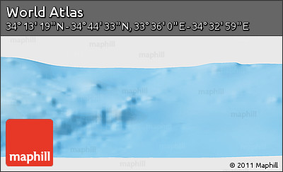 """Physical Panoramic Map of the Area around 34°28'56""""N,34°4'30""""E"""