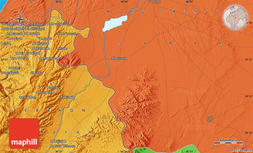 Political Map of Al Amr yah