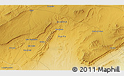 Physical 3D Map of Djelfa