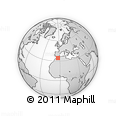 Outline Map of Ain Zohra Centre, rectangular outline