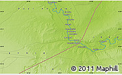 """Physical Map of the area around 34°28'56""""N,40°52'30""""E"""