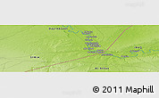 """Physical Panoramic Map of the area around 34°28'56""""N,40°52'30""""E"""