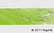 "Physical Panoramic Map of the area around 34° 28' 56"" N, 45° 7' 30"" E"