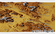 """Physical 3D Map of the area around 34°28'56""""N,47°40'29""""E"""