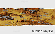"""Physical Panoramic Map of the area around 34°28'56""""N,47°40'29""""E"""