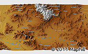 """Physical 3D Map of the area around 34°28'56""""N,48°31'29""""E"""