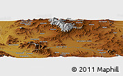 """Physical Panoramic Map of the area around 34°28'56""""N,48°31'29""""E"""