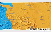 Political 3D Map of Āb Anbār