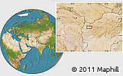 """Satellite Location Map of the area around 34°28'56""""N,62°7'30""""E"""