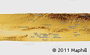 Physical Panoramic Map of Herāt
