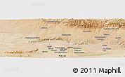 Satellite Panoramic Map of Herāt