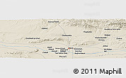 Shaded Relief Panoramic Map of Herāt