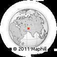 Outline Map of Gaṟmāb, rectangular outline