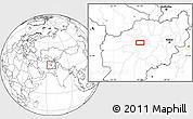 Blank Location Map of Chaghcharān