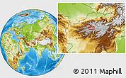 Physical Location Map of Chaghcharān
