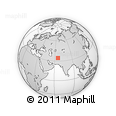 """Outline Map of the Area around 34° 28' 56"""" N, 65° 31' 30"""" E, rectangular outline"""