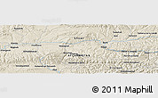 Shaded Relief Panoramic Map of Balekūh
