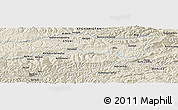 Shaded Relief Panoramic Map of Bolandbolāgh