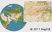 Satellite Location Map of Anakas