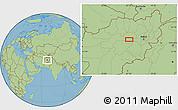 Savanna Style Location Map of Anakas
