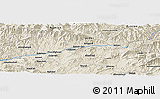 Shaded Relief Panoramic Map of Chāpārsūkhteh